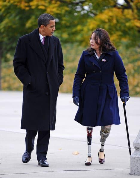 5 FOTO El expresidente Barak Obama y la senadora Tammy Duckworth en chicago