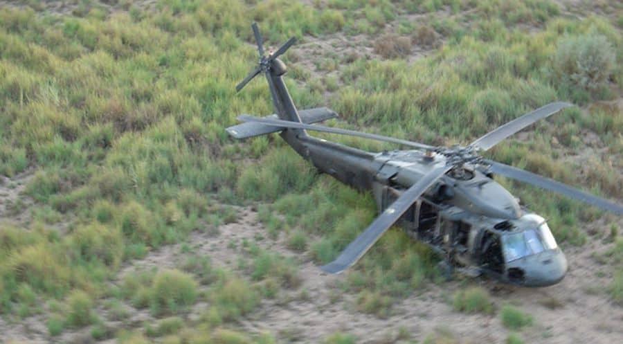 Helicoptero derribado
