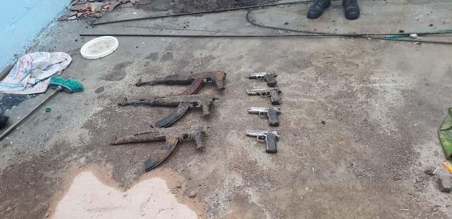 armas encontradas