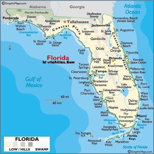 5 FOTO TESOROS mapa Florida