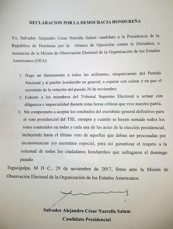 Carta Alianza