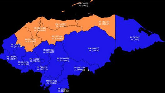 mapa JOH