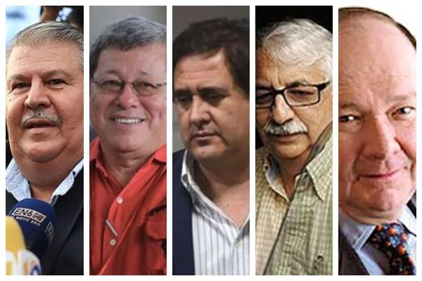 implicados en la lista corrupción