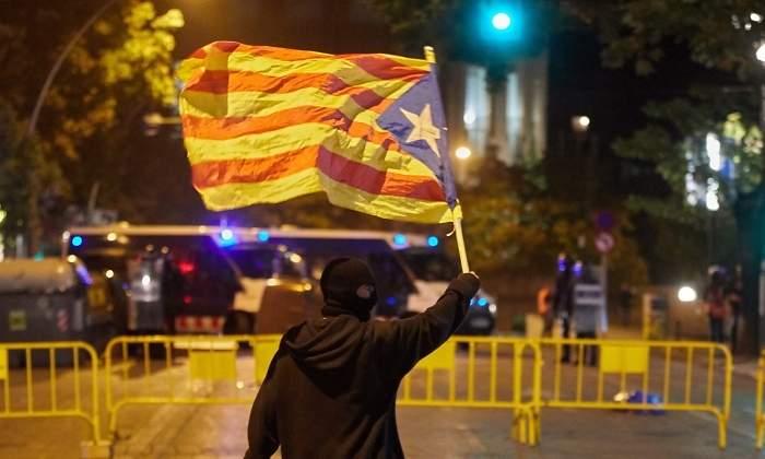 cataluna protestas 4 noche girona bandera efe