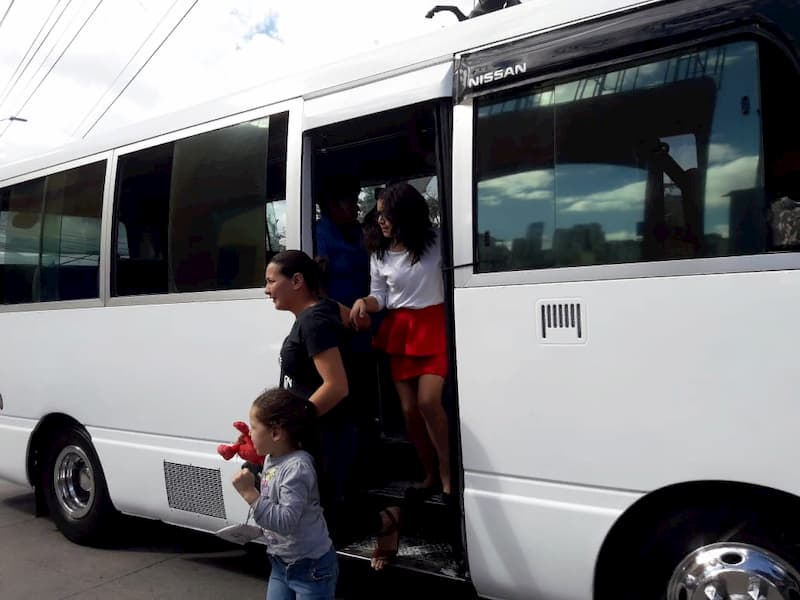 buses de transporte público