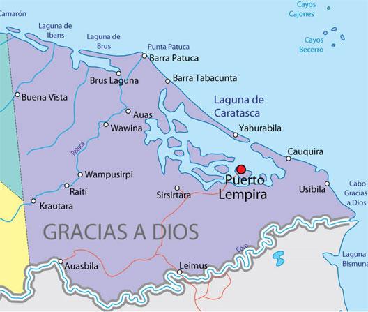 Mapa Brus Laguna