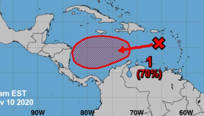Tormenta tropical Iota avanza hacia Centroamérica